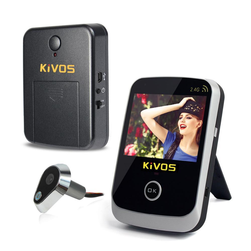 Kivos 3.5 Digital Door Eye Peephole Door Viewer Wireless Video ...
