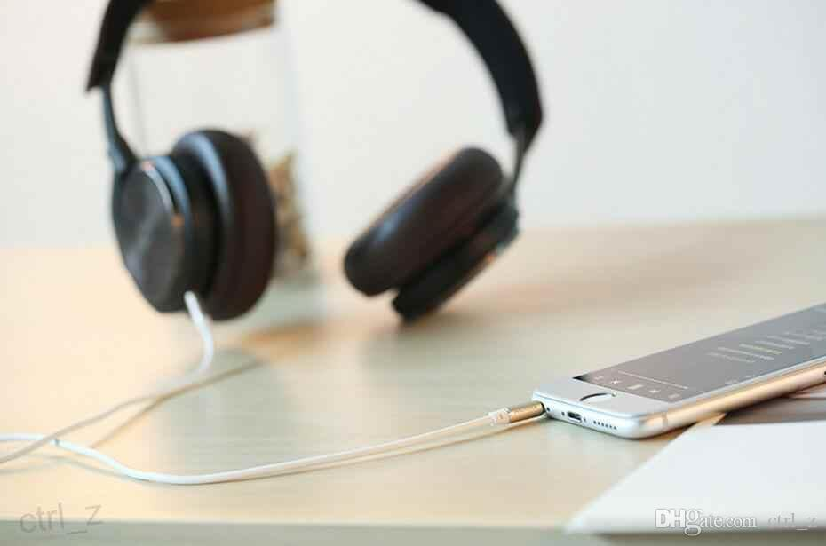 3.5mm Remax AUX Cable 3 pies Macho a Macho Jack para iPhone iPad iPod Auriculares Móviles MP3 Reproductor de CD Cable de Audio
