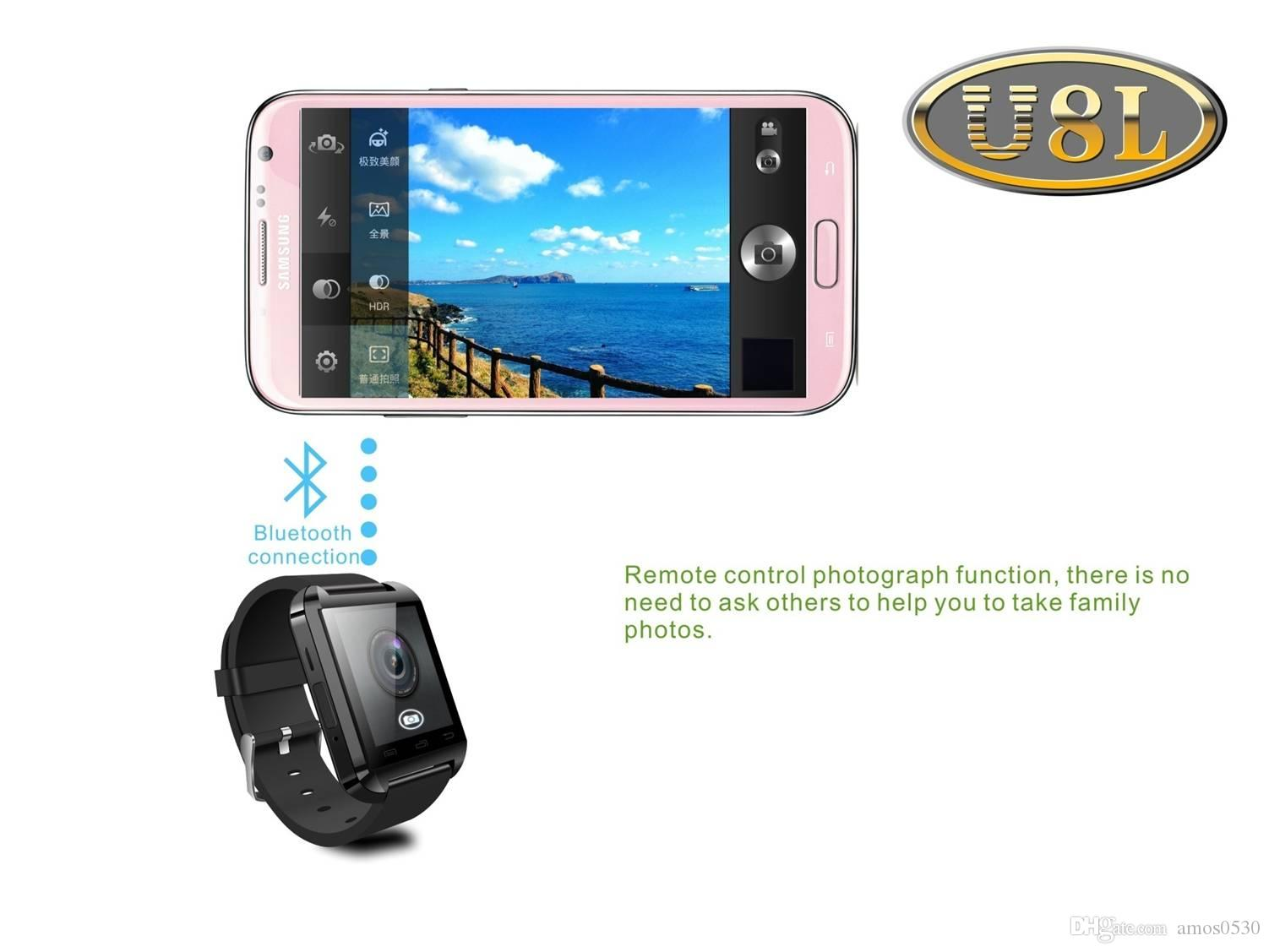 U8L Smart Watch Women Men Sports Watches Bluetooth SMS Sync WristWatch For iPhone Samsung IOS Android Phone Sleep Monitor New