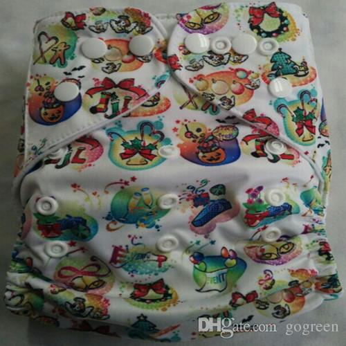 1+1 New Design Printed Reuseable Washable Pocket Cloth Diaper Nappy With Microfiber Insert TN