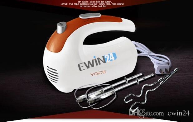 العلامة التجارية الجديدة والعالية الجودة اليد خلاط كهربائي أواني المطبخ خفقت الغذاء البيض الخافق 5 سرعة 200W