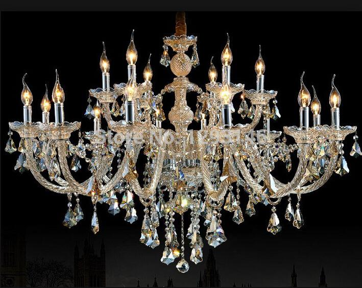 Amazing Large 18 Arms Modern High Quality Cognac Crystal Chandelier Living Bedroom Dinning Lamp For Home Decoration Girls