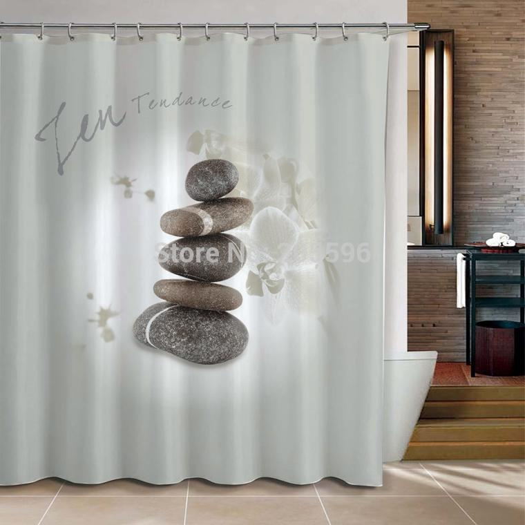Superior 2018 Grey Zen Stone Products Bathroom Curtain Shower Curtain Terylene Bath  Curtain 180x200cm ,Screen Shower,Curtain Bath From Wzx160, $57.29 |  Dhgate.Com