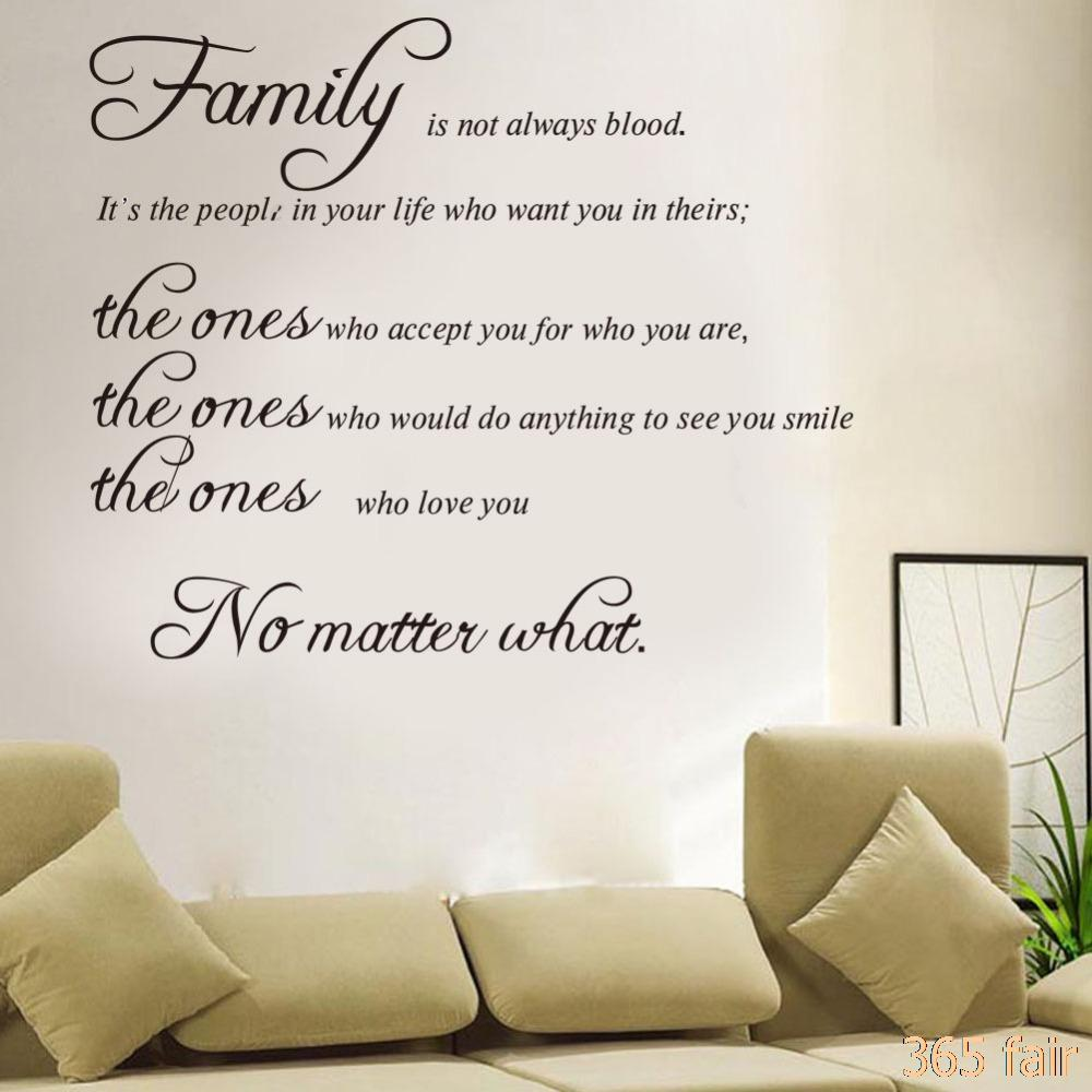 Inspirational Family Quotes English Proverbs What Is Family Room Bedroom Wall  Decals Stickers Art Home Decoration P3 Quote Wall Sticker Quote Wall  Stickers ...