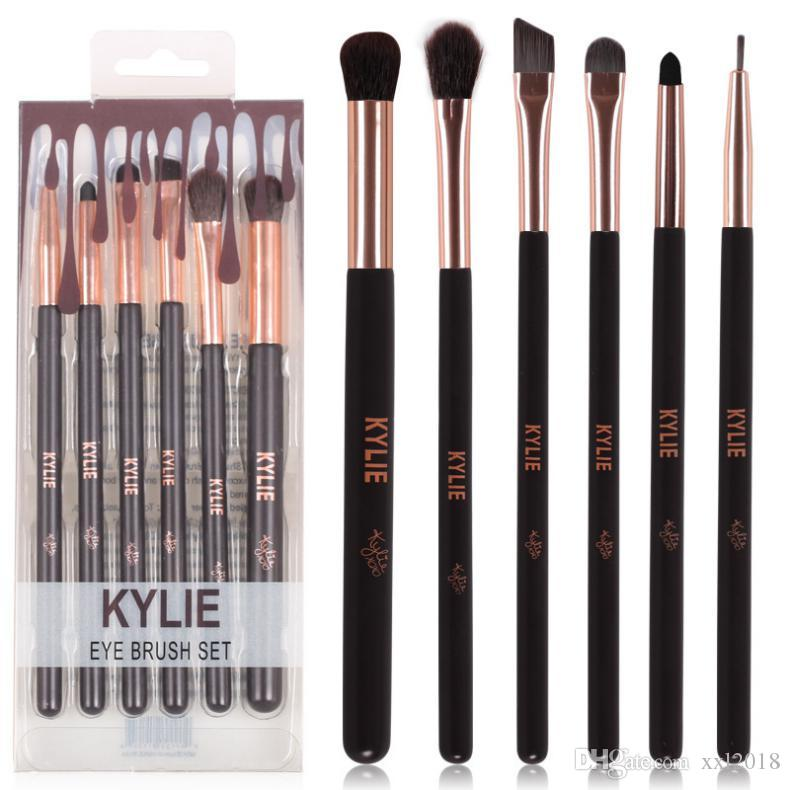 2017 New kylie Jenner Complexion Brush Set Nake Eyeshadow Palettes Foudation Makeup Brushes High Tech Make Up Tools