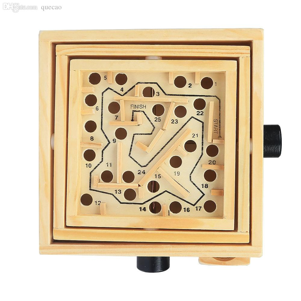 Balance Board Maze Game: 2019 Wholesale Labyrinth Game Wooden Labyrinth Tilting