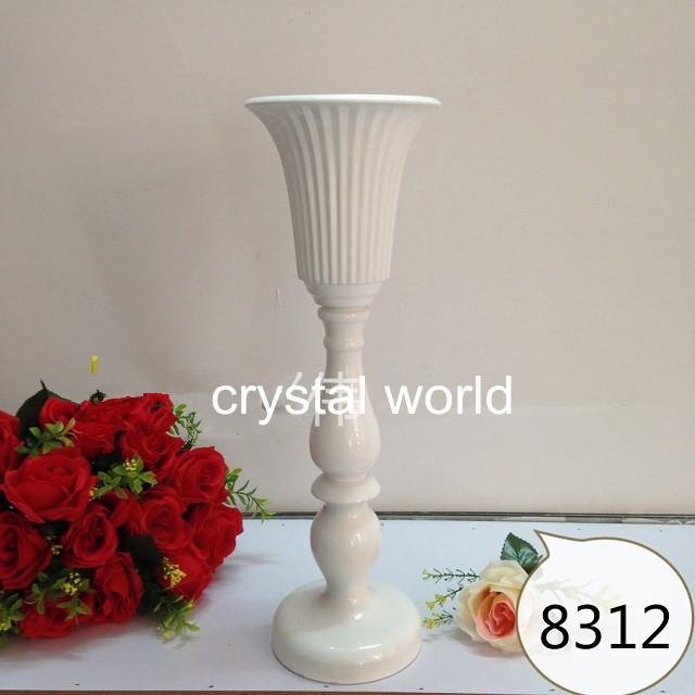 11 White Candle Holder Flower Stands Centerpieces For Wedding Table