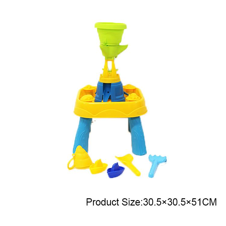 Summer outdoor beach toys sand and water play table fun multiplayer toy tools set children gift Fess Shipping