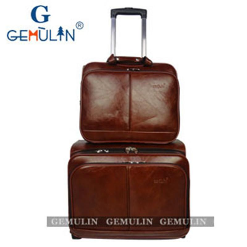 2015 New Pu Suitcase Luggage Set Mens Travel Bags Trolley Bag ...