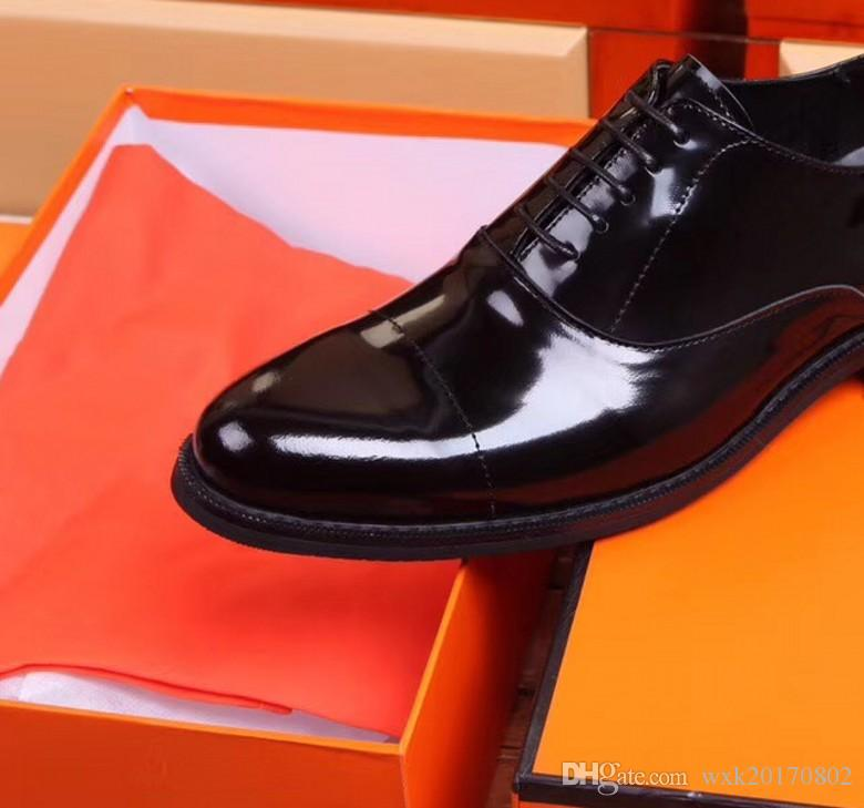 8050 Leder Schuhe Männer Kleid Schuhe Business Spitz Lace-Up Hochzeit Schuh Gummisohle Atmungsaktive Männlichen Schuh