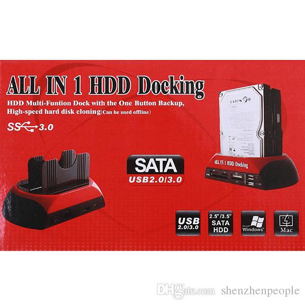 "2.5"" 3.5"" SATA / IDE 2 Double - Dock HDD Docking Station e- SATA / Hub External Storage Enclosure Parts Free"