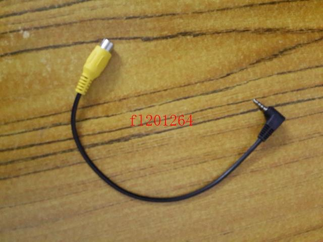 DHL 2.5mm Male Plug to RCA Female Jack AV Adapter Cable Right Angle bend For GPS Video Input