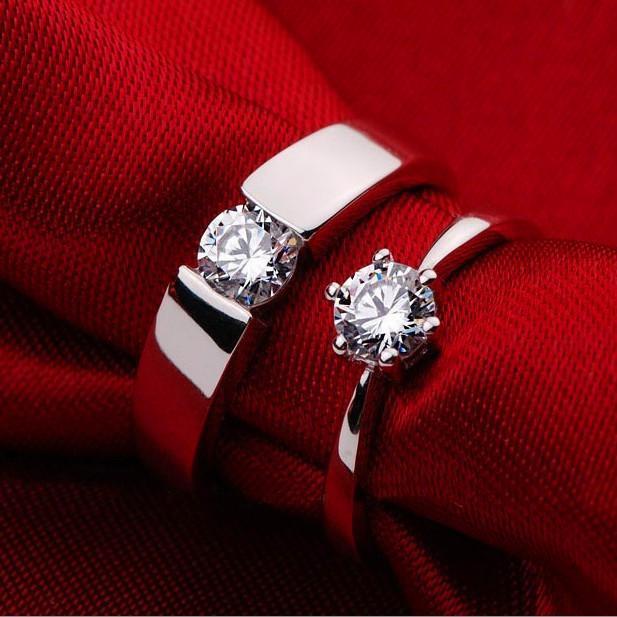 New Designer Forever Love Wedding Rings Pair Couple Rings Men