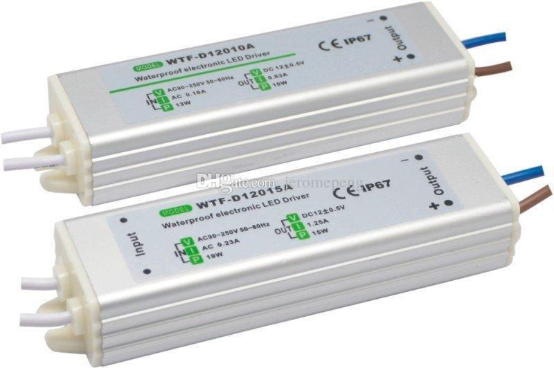 15 Вт 20 Вт 30 Вт 60 Вт Водонепроницаемый Открытый светодиодный источник питания Драйвер 100-240 В переменного тока до 12 В 24 В постоянного тока IP67 для светодиодного модуля и полосы