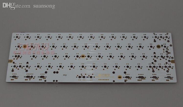 Wholesale-Satan GH60 PCB White Board LED DIY Mechanical Keyboard