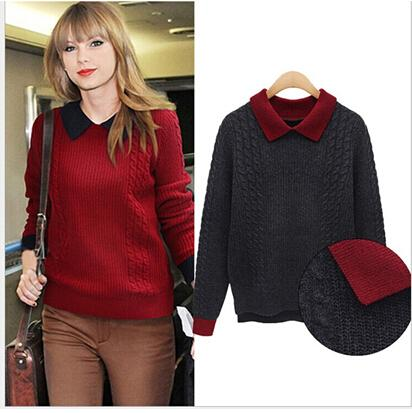 2018 2015 New Women Knitted Sweater Pullover Ladies Casual ...