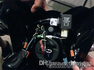 10 UNIDS CF14 JL-02 LED Flasher 3 Pin Módulo de Relé Electrónico Arreglar Auto Motor LED SMD Luz de Señal de Vuelta Intermitente Intermitente intermitente 12V 0.02A a 20A