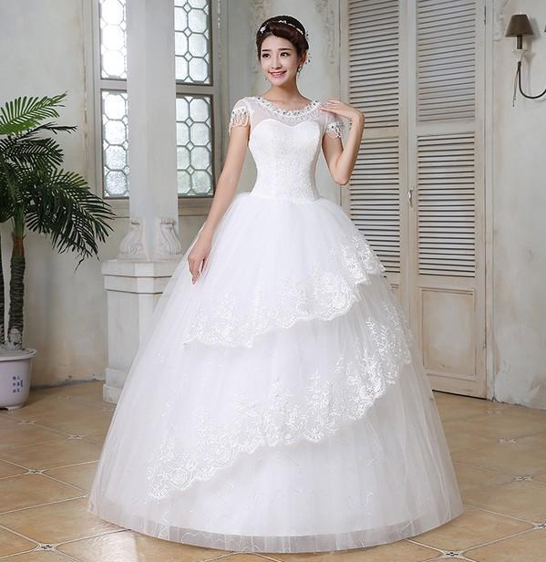 Elegant Wedding Gowns For Second Marriage: 2016 New Elegant Good Quality Wedding Dress Simple
