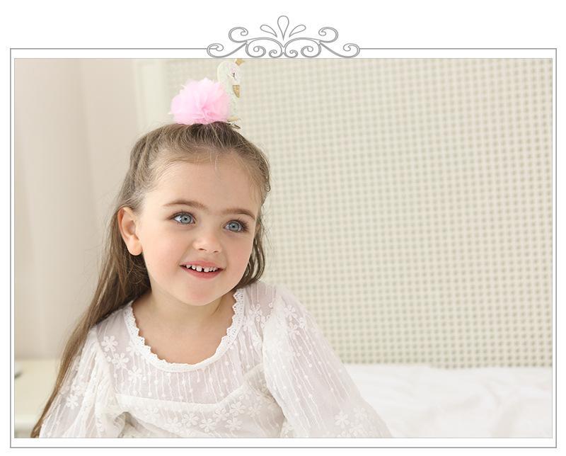 2017 neue Koreanische Mode Magzin Mädchen Haarspangen Bling White Swan Prinzessin Blume Haarnadeln für Kinder Kinder Haarspangen Weihnachten geschenke
