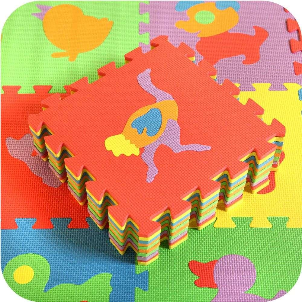 baby toy eva material playing infant mat toy mat nice style animal pattern soft feeling floor rug multicolor foam baby mat pcs