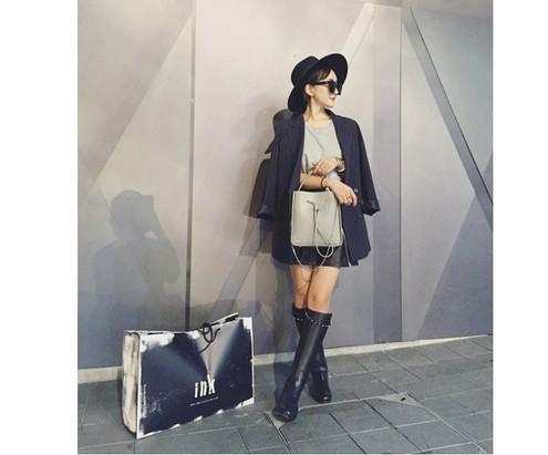 fashionville*sale! b077 40 black genuine leather studded belt knee high flat boots luxury designer v