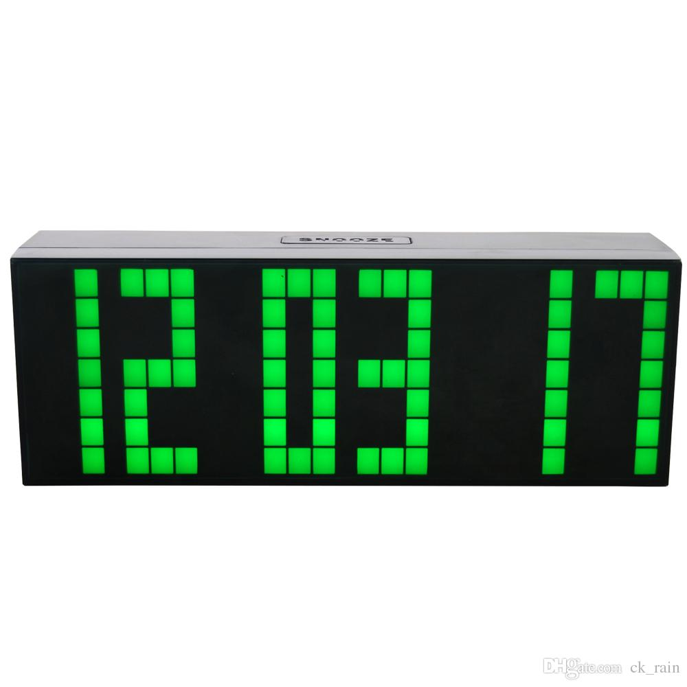 2018 Modern Digital Large Big Jumbo Led Digital Alarm ...
