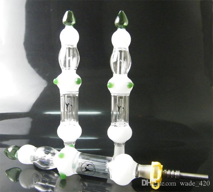 파이프 유리 봉 티타늄 네일 흡연 뜨거운 판매 유리 물 기억 만 키트 14mm 물, 빠른 배송