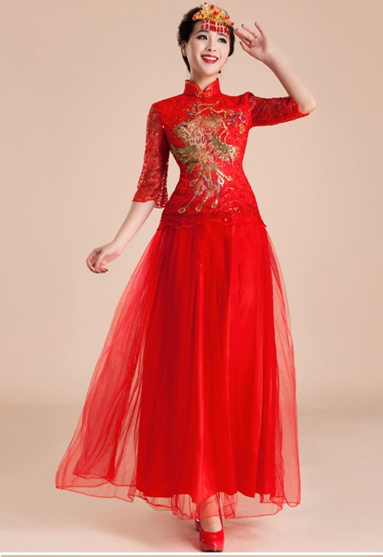Chinese Cheongsam Special Real Chinese Dress Bride Evening Dress ...