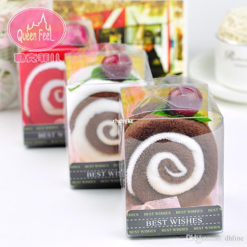 Wedding Cake Towel Gift Promotional Creative Crafts Couple Cute ValentineS Day Favor Wholesale Double Swiss Roll C Abyss Towels Sports