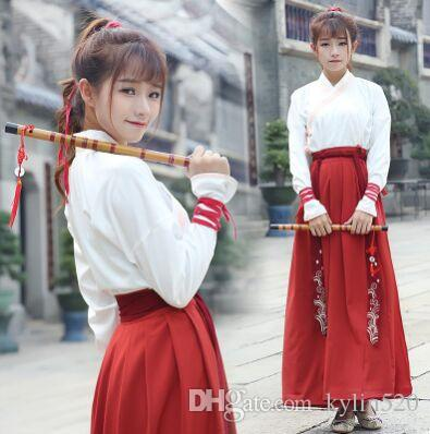 6828a27e7b 2018 Han Fu Chinese Ancient Dynasty Costume For Women Ancient Chinese  Clothes Han Dynasty Clothing For Women Warrior Cosplay From Kylin520  50.06