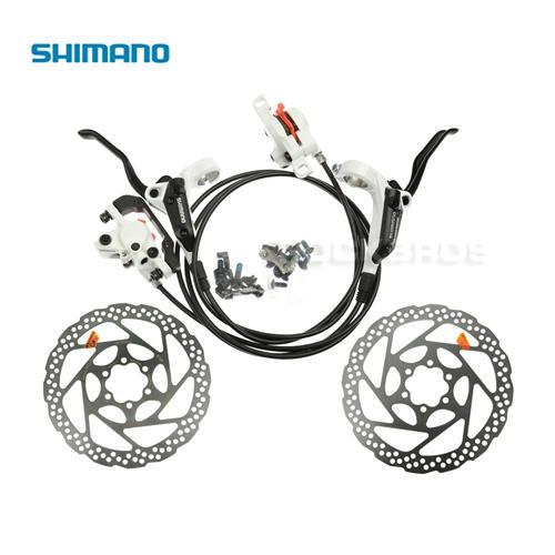800d3d8661b SHIMANO BR-BL-M355 Hydraulic MTB Mountain Bike Bicycle Disc Brake Set Front  & Rear Calipers Levers + 2pcs RT56 160mm Rotors