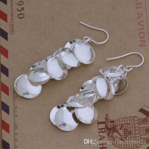 Мода изготовление ювелирных изделий 20 шт много текстур диск серьги стерлингового серебра 925 заводская цена мода обуви серьги