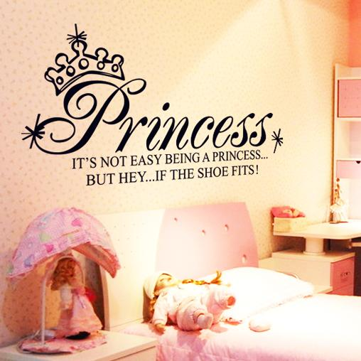 Princess Wall Decals Quotes And Sayings Princess Wall Stickers Vinyl Quotes  Home Decoration Girls Room Wall Art Paper Kids Flower Wall Sticker Flower  Wall ...
