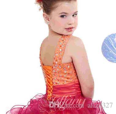 Bambini Bambini Abito da spettacolo con corpetto di carro armato di paillettes Abito da ballo senza maniche Fiore ragazza Festa da ballo Ragazza Abiti da spettacolo Principessa