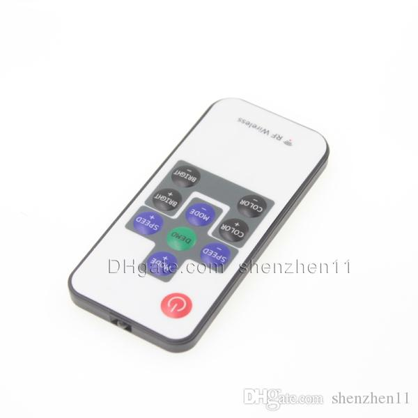 controlador led inalámbrico rf mando a distancia rgb led controlador programable para control remoto con pilas led luz 10 teclas 12v DT005