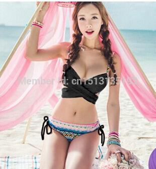 0a9ef0cfb9e93 2019 2015 New Korean Style Push Up Sexy Bathing Swimsuit Solid Femininos Bikini  Sets Biquini Beachwear Triangle Women Swimwear From Hanxizhiyi
