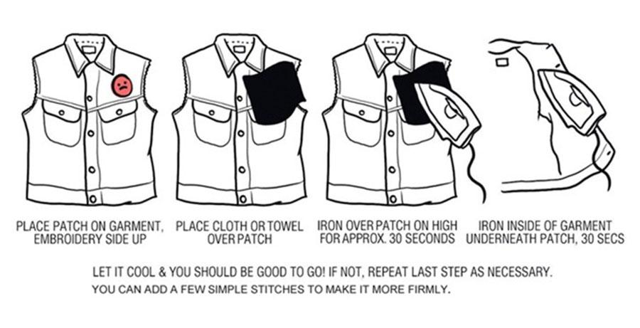 Flash Broderie Patches pour Vêtements Sacs Fer sur Transfert Applique Patch pour Vêtement Jeans DIY Coudre sur Broderie Badge