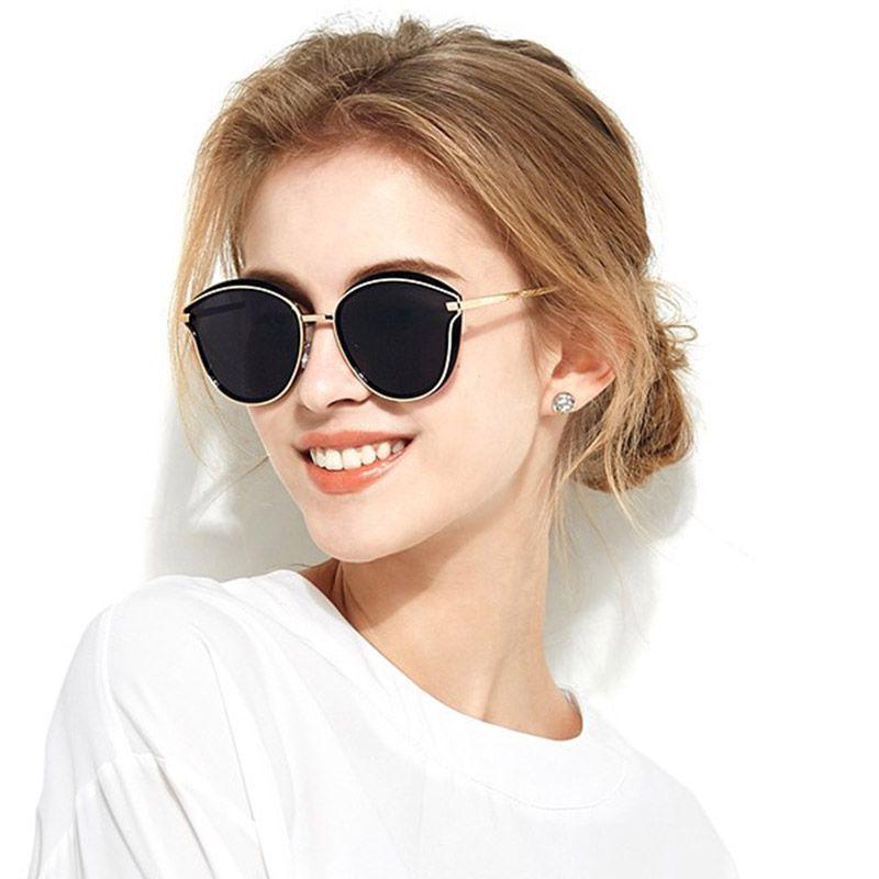 ce8840db80 Compre Gafas De Sol Polarizadas Mujer Ojo De Gato Diseñador De La Marca  Gafas De Sol Steampunk Lentes De Sol Mujer Conducción Zonnebril Dames A  $7.11 Del ...