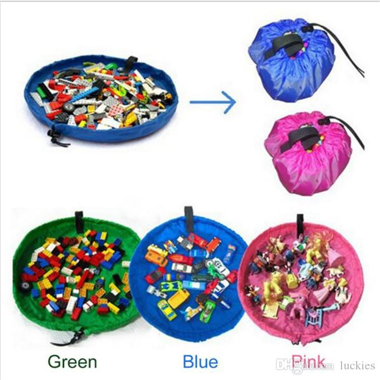 Bolsa de almacenamiento de juguetes para niños, niños, colchoneta de picnic, colchoneta de juego, organizador de juguetes de Lego, caja de contenedores, 150 cm, 100 cm, 45 cm