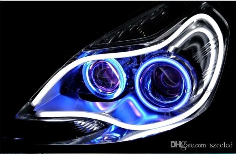 60cm luce di marcia diurna All'ingrosso Car LED Proiettori luce modificata Lampada guida luci in silicone Luci Sopracciglio Luci di lacrime