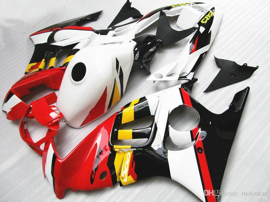 Completamente compatibile con carene HONDA F3 CBR600 1997 1998 CBR 600 97 98 carenatura rosso bianco nero kit QY72