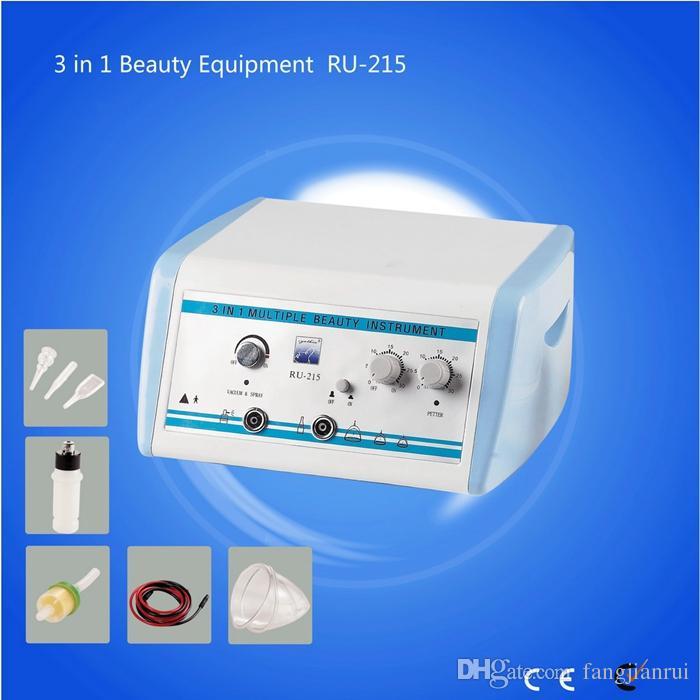 Kadınlar vakum göğüs ve büyütme makine Fabrikası Vakum Vücut ve Yüz Lenf Drenaj Makinesi İçin Salon kullanımı RU-215 3 1 donatmak kalçalar