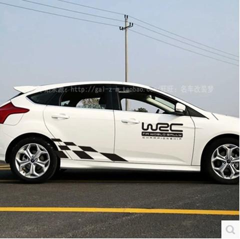 The New Focus Wrc Scratch Modified Block Checkered Flag