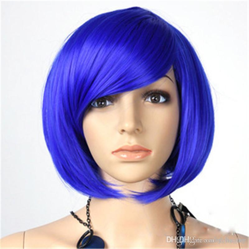 Short Straight Synthetic Bob Hair Wigs Womens Ladies