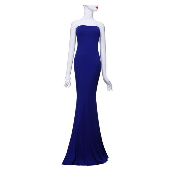 2015 Euroepan Amerikan Şık Straplez Kapalı Omuz Akşam Parti Elbise Seksi Kadınlar Moda Yaz Maxi Fishtail Elbiseler