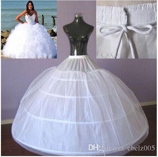 4 Hoops Ball Gown Sottogoat la sposa Abito da sposa Grandi Petticoat Tutu Maxi Plus Size Solleskirt di alta qualità