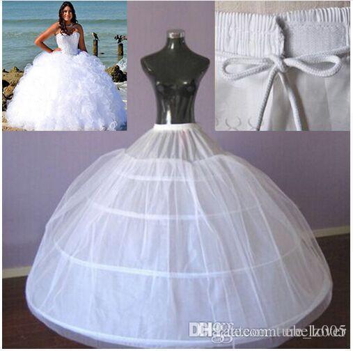 4 الأطواق ثوب الكرة ثوب نسائي للعروس فستان زفاف كبير توتو تنورات ماكسي زائد الحجم تحتية عالية الجودة