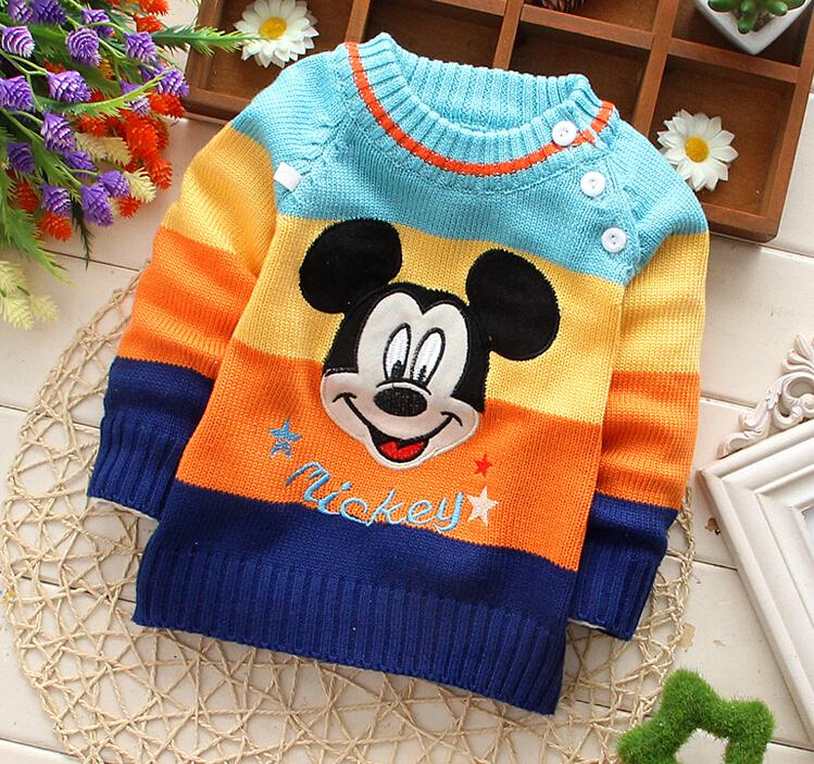Wholesale Winter Autumn Infant Children Boy Girl Child Character Sweater  Baby Cartoon O Neck Sweater Outerwear Pullovers Boys Sweaters To Knit Kids  Woolen