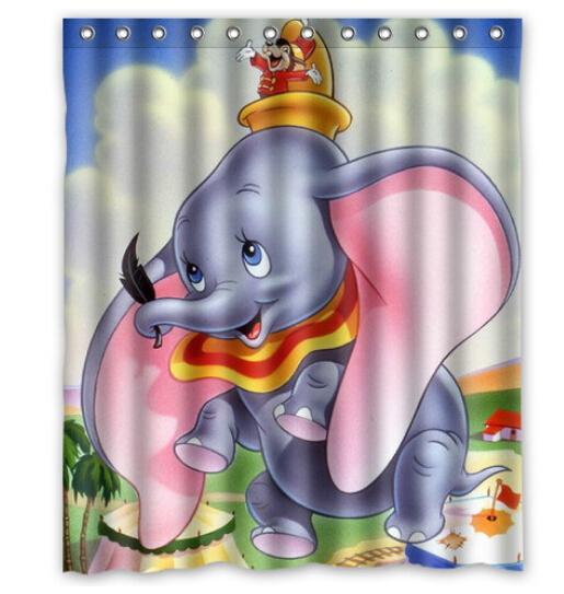 2018 Customized Most Good Looking Cartoon Dumbo Custom Shower ...
