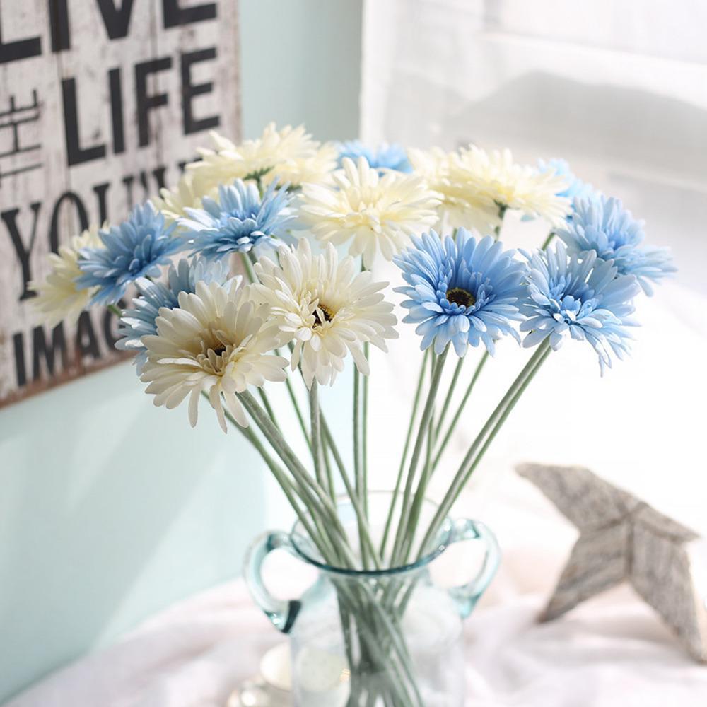 2018 Gerbera Daisy Artificial Flower Silk Fake Flowers Bouquet Real
